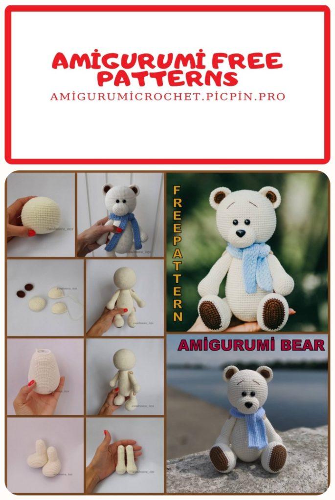 Amigurumi Cute Teddy Bear Free Crochet Pattern - Amigurumi Free ... | 1024x685