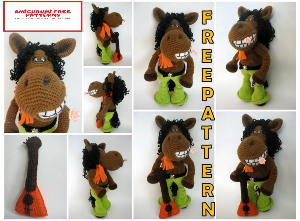 This crochet farm horse is not only... - Amigurumi Today - Free ... | 755x1024